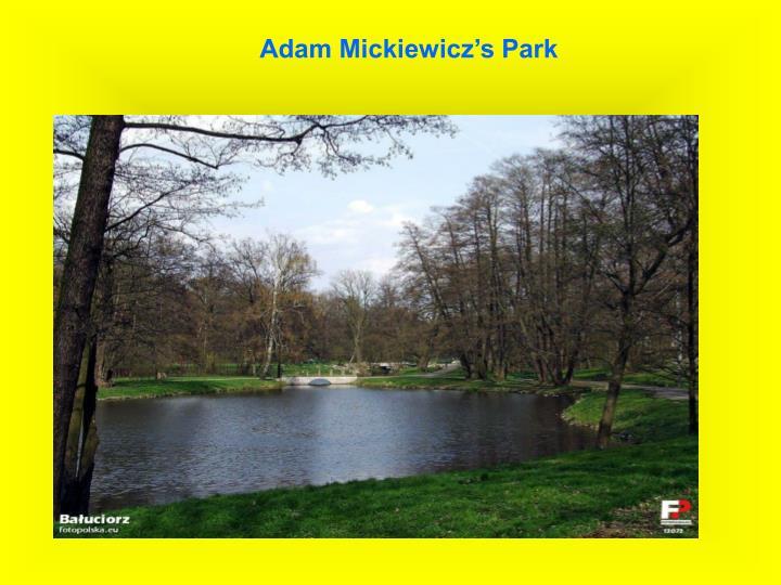 Adam Mickiewicz's Park
