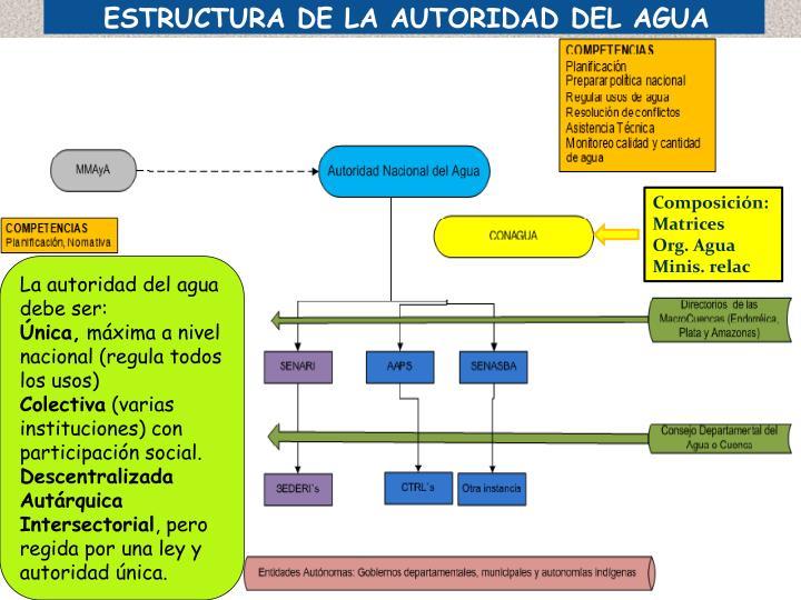 ESTRUCTURA DE LA AUTORIDAD DEL AGUA