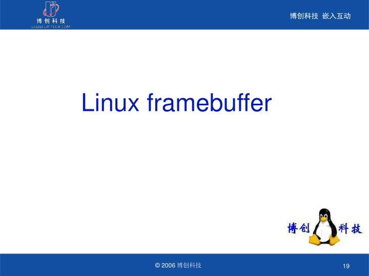 Linux framebuffer