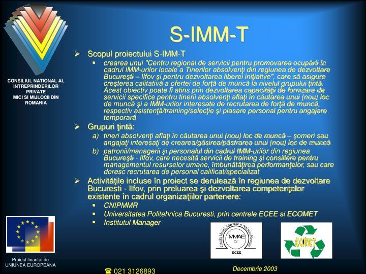 S-IMM