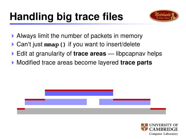 Handling big trace files