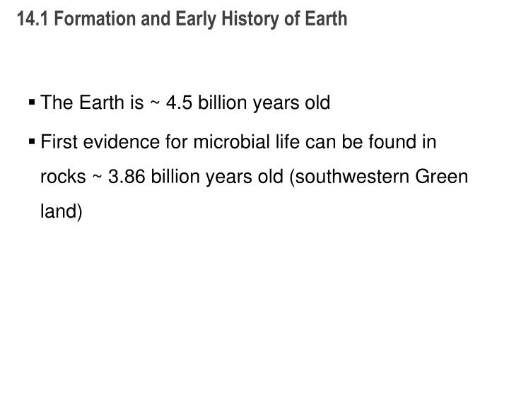 14 1 formation and early history of earth