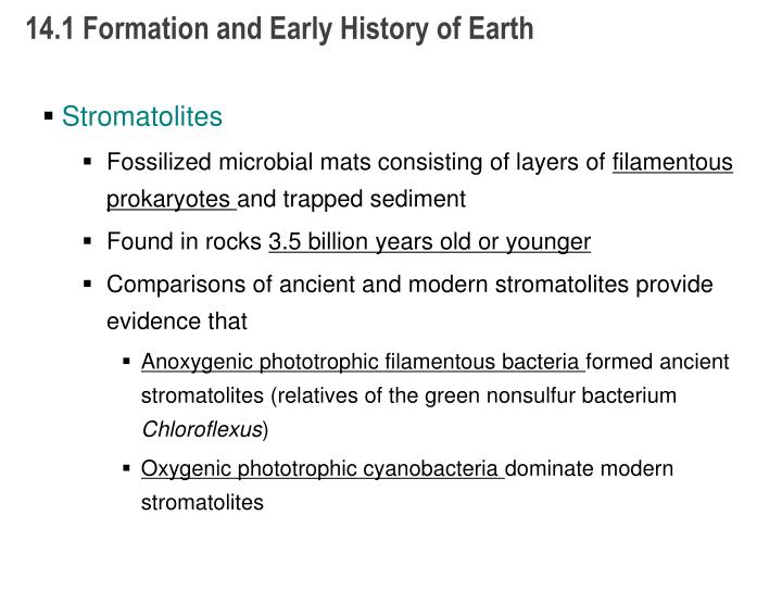14.1 Formation and Early History of Earth