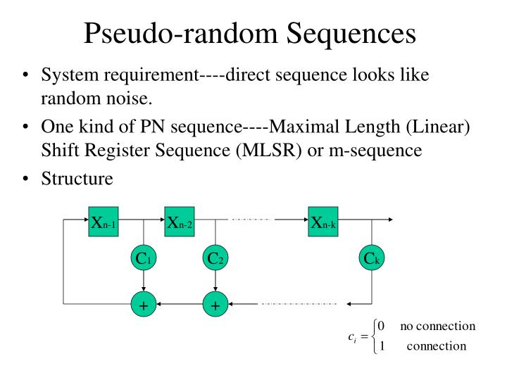 Pseudo-random Sequences
