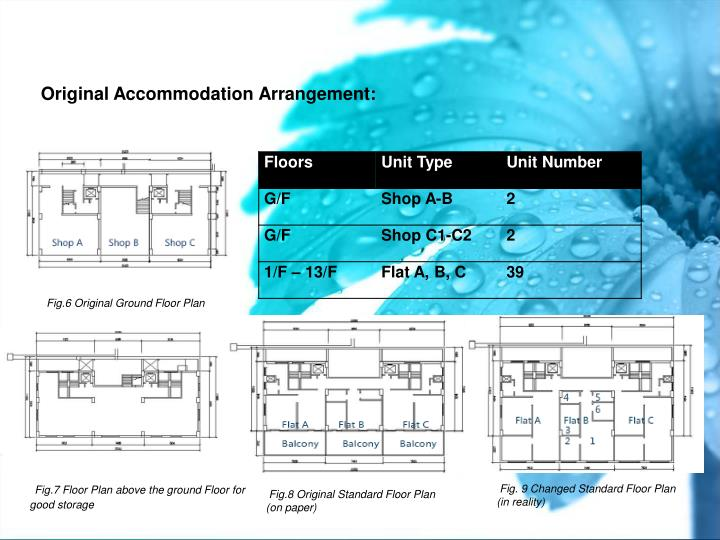 Original Accommodation Arrangement: