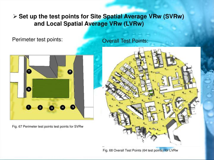 Set up the test points for Site Spatial Average VRw (SVRw)