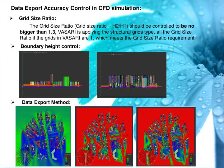 Data Export Accuracy Control in CFD simulation:
