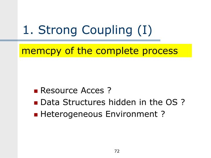 1. Strong Coupling (I)