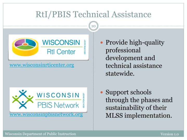 RtI/PBIS Technical Assistance