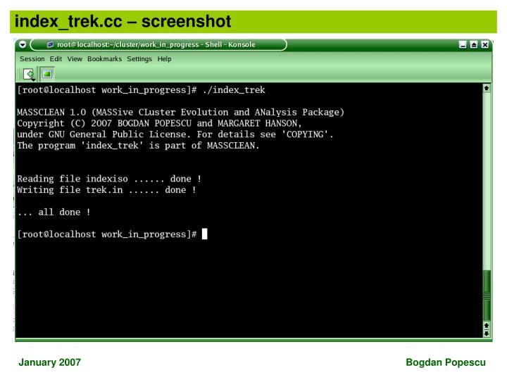 index_trek.cc – screenshot