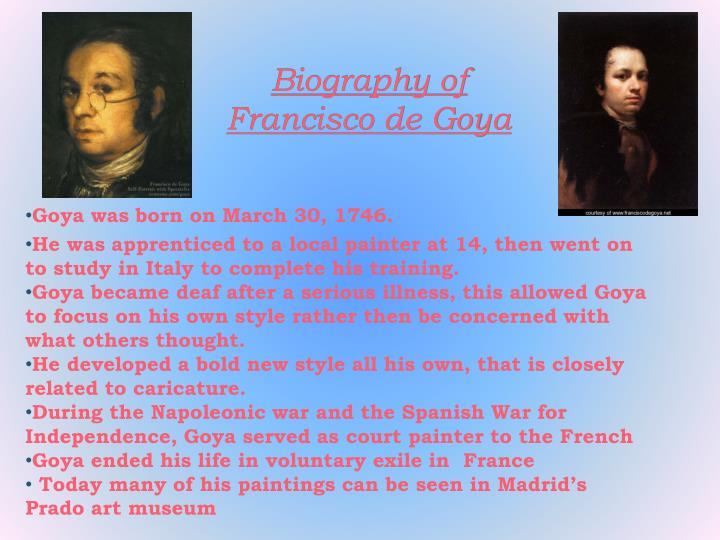 Biography of Francisco de Goya