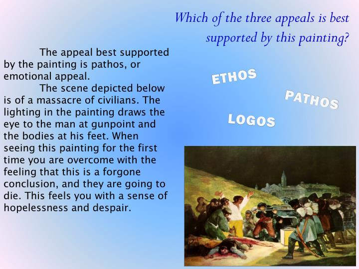 Which of the three appeals is best supported by this painting?