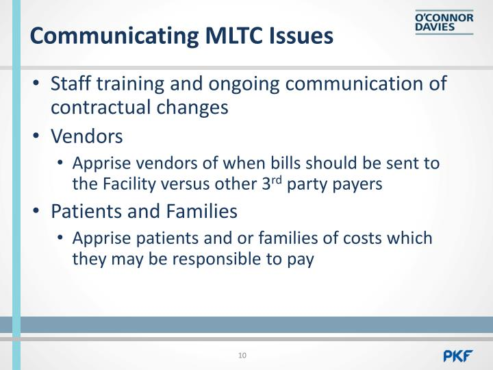 Communicating MLTC Issues