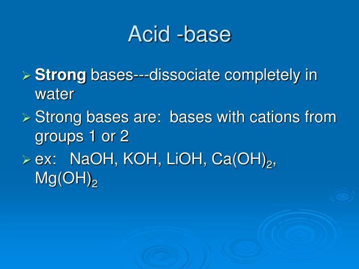 Acid -base