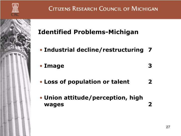 Identified Problems-Michigan