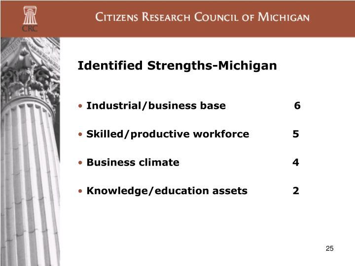 Identified Strengths-Michigan