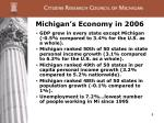 michigan s economy in 2006