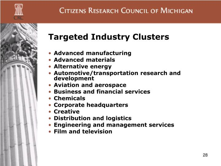 Targeted Industry Clusters