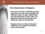 the importance of regions