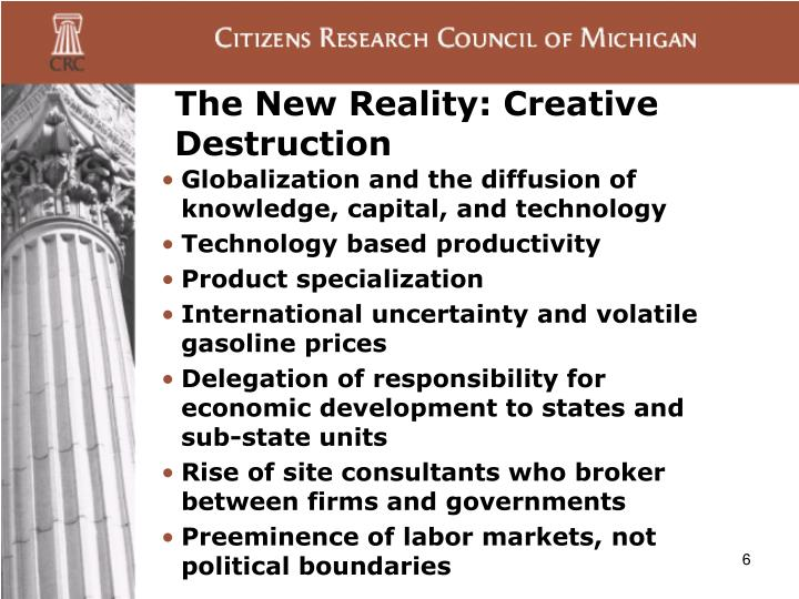 The New Reality: Creative Destruction