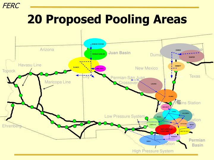 20 Proposed Pooling Areas