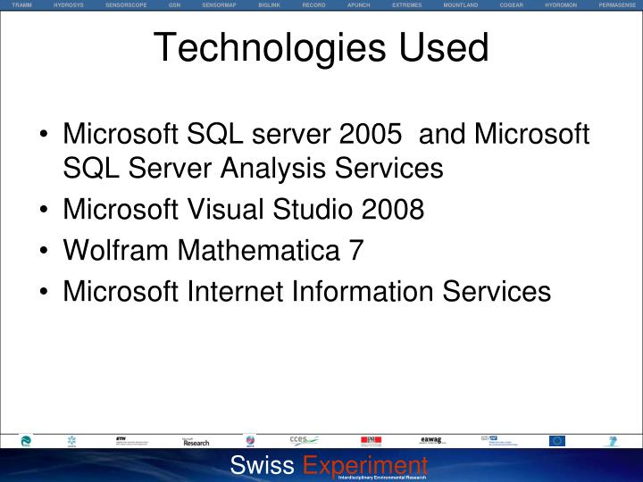 Microsoft SQL server 2005  and Microsoft SQL Server Analysis Services