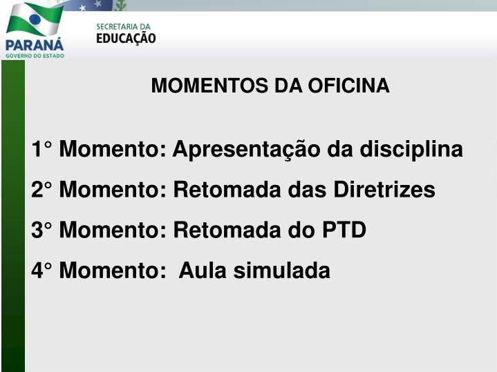 MOMENTOS DA OFICINA