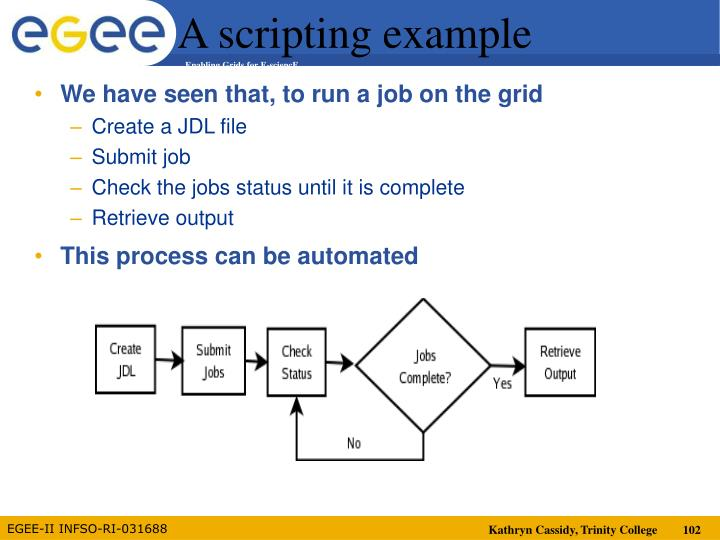 A scripting example