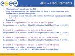jdl requirements