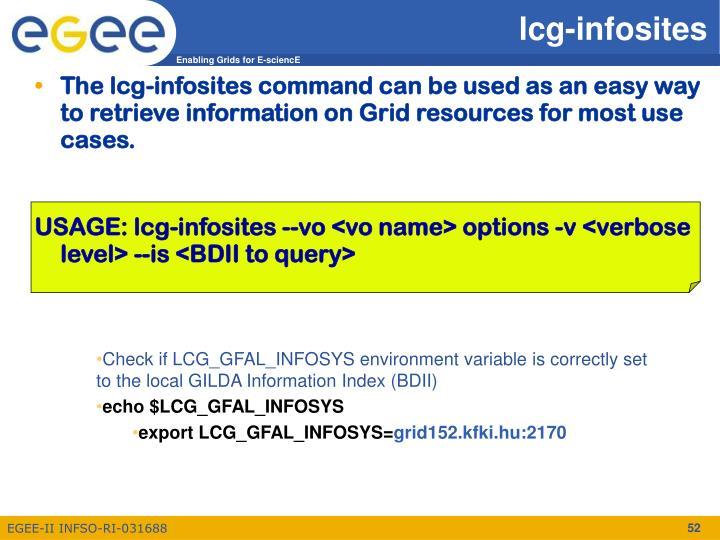 lcg-infosites