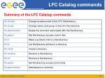 lfc catalog commands2