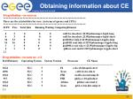 obtaining information about ce