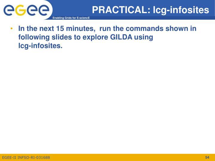 PRACTICAL: lcg-infosites