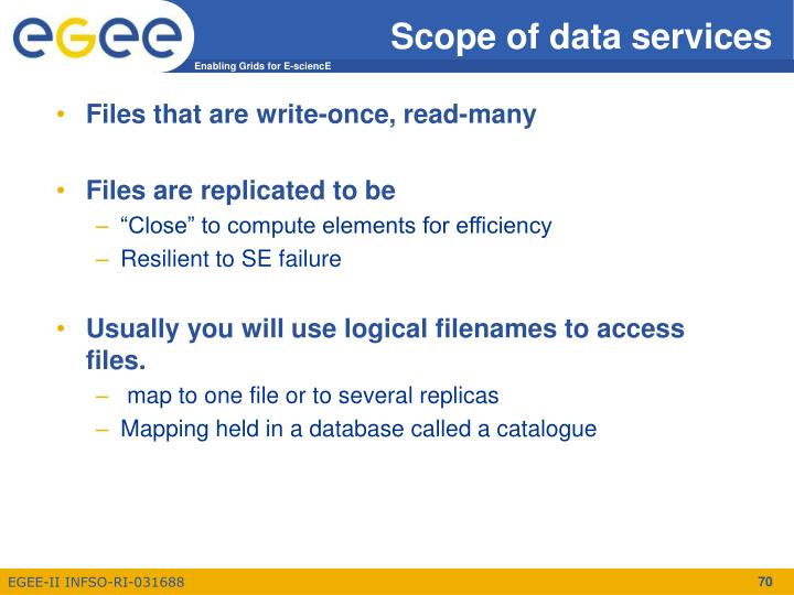 Scope of data services