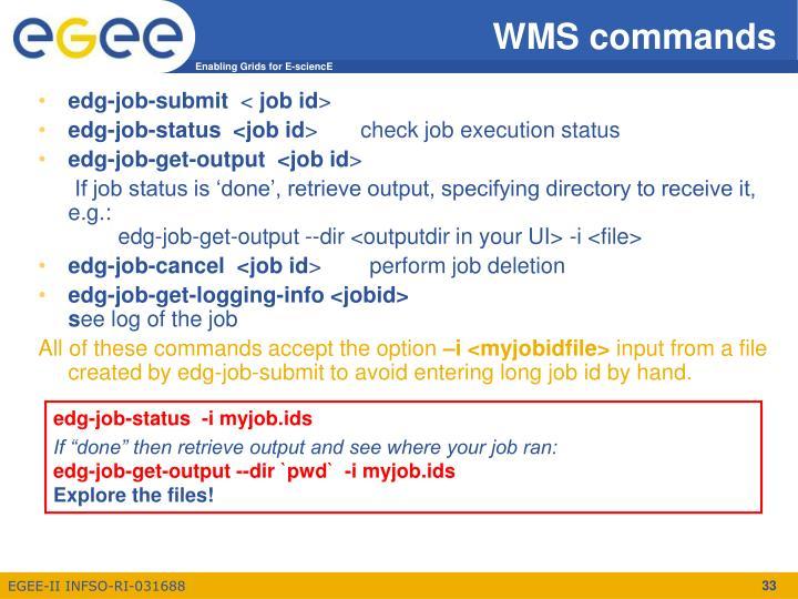 WMS commands