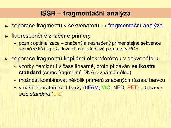 ISSR – fragmentační analýza