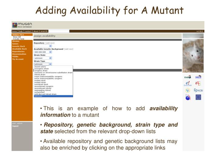 Adding Availability for A Mutant