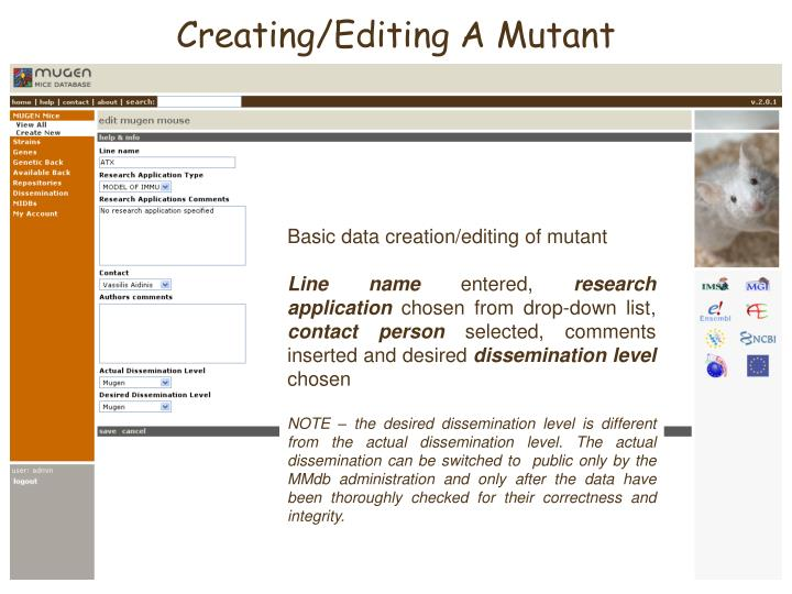 Creating/Editing A Mutant