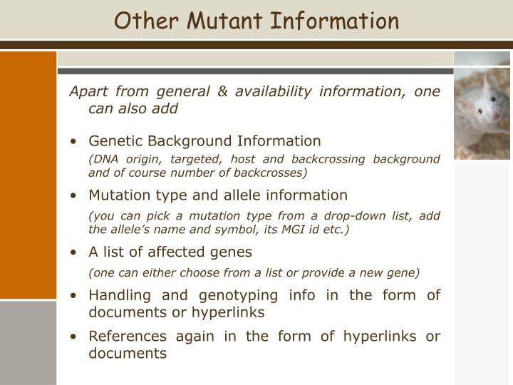 Other Mutant Information