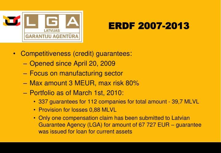 ERDF 2007-2013