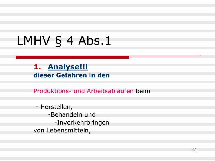 LMHV § 4 Abs.1