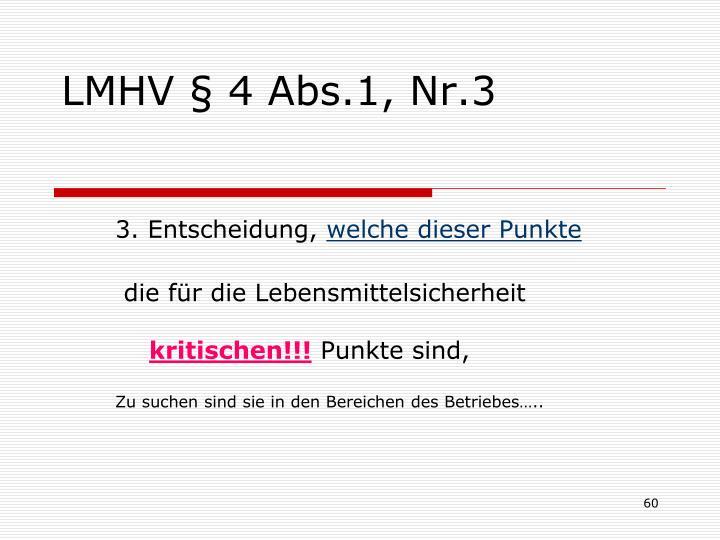 LMHV § 4 Abs.1, Nr.3