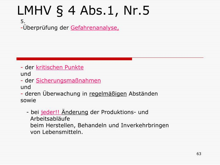 LMHV § 4 Abs.1, Nr.5