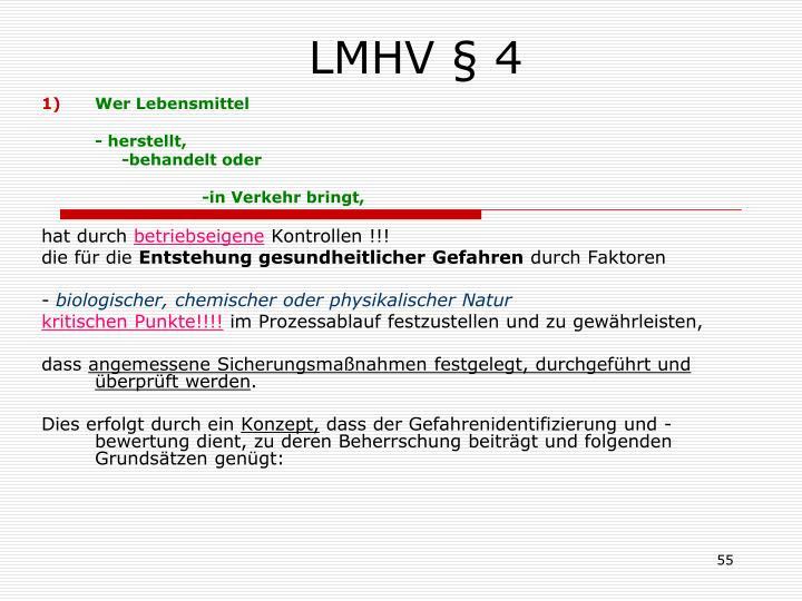 LMHV § 4