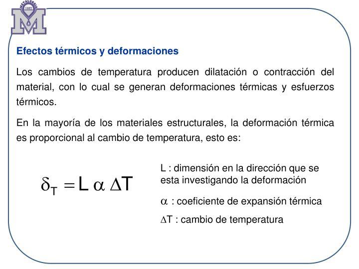 Efectos térmicos y deformaciones
