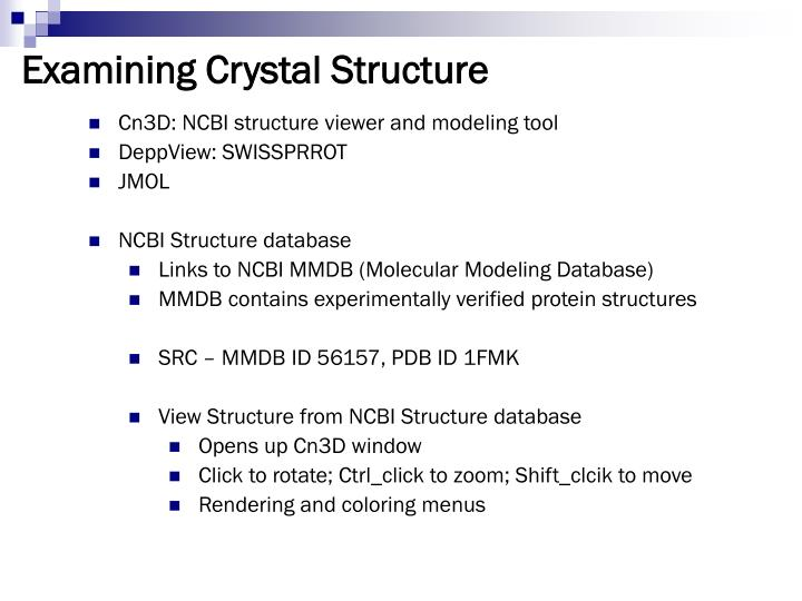 Examining Crystal Structure