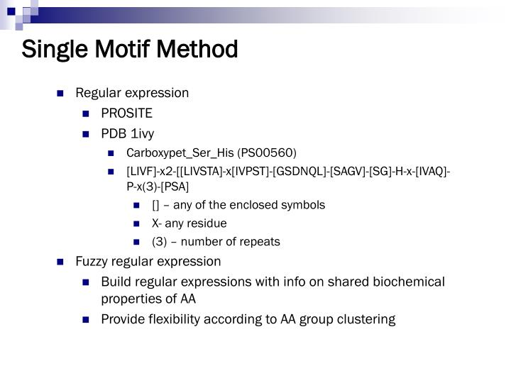 Single Motif Method