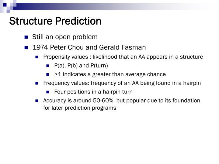 Structure Prediction