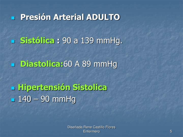 Presión Arterial ADULTO