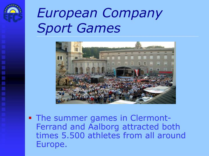 European Company Sport Games